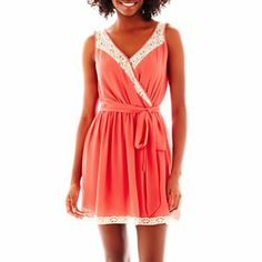 bfdb67f9daa Sleeveless Lace Trim Dress - jcpenney from  54 to  10! 11-21-13