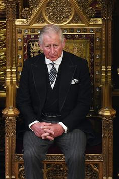 Prince Charles Photos Photos - Prince Charles, Prince of Wales, listens as his mother, Queen Elizabeth II, makes a speech at the State Opening Of Parliament in the House of Lords on June 21, 2017 in London, England. This year saw a scaled-back State opening of Parliament Ceremony with the Queen arriving by car rather than carriage and not wearing the Imperial State Crown or the Robes of State. - The State Opening Of Parliament 2017
