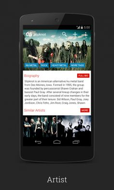 Signa Android UI Design Community — New Last.fm by 30PP0