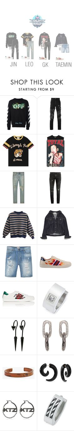 """Cherry Bomb - Lonely M! Countdown"" by cherrybomb-official ❤ liked on Polyvore featuring Off-White, MSGM, Gucci, Yves Saint Laurent, Balmain, MANGO MAN, Rhona Sutton, Pearls Before Swine, Marmol Radziner and Bling Jewelry"