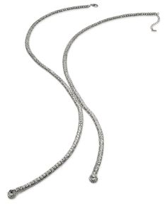 Abs by Allen Schwartz Necklace, Silver-Tone Crystal Lariat Necklace