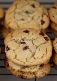 The PERFECT Chocolate Chip Cookie Recipe on twopeasandtheirpod.com #cookies