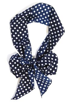 Skinny Secretary Scarf: Navy Dots - $6.99 : Spotted Moth, Chic and sweet clothing and accessories for women