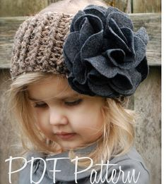 Crochet PATTERNThe Willow Warmer Toddler Child por Thevelvetacorn