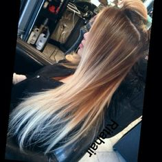 love this ombré but red instead of brown for me
