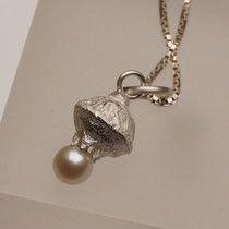 Silberanhänger klein mit echter Perle