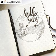 bujo hello July