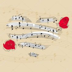 Draw Roses Wedding Music Ideas: Is Picking out Songs Obsessive? - - Millions of Creative Stock Photos, Vectors, Videos and Music Files For Your Inspiration and Projects. Sound Of Music, Music Is Life, My Music, Hippie Music, Music Lyrics, Music Quotes, Pop Art Bilder, Song Tattoos, Tattoo Music