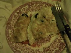 Omelette of Black Olives and Tomatoes