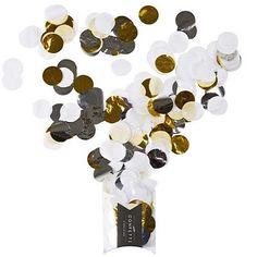 Ruby Rabbit Partyware - White, Silver & Gold Jumbo Confetti Dots