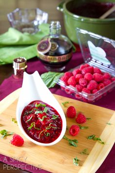 Raspberry & Cranberry Sauce for Thanksgiving also makes a marvelous spread to serve with bread and cheese!