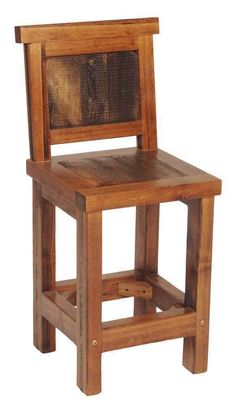 Mexicali Rustic Wood Bar Stools Solid Recycled Wood