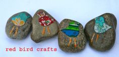 red bird crafts blog- storytelling stones