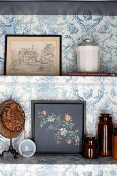 Sketchy Butterfly Needlepoint Art framed in Gallery Black Frame. Shop Vintage Art at Lindsay Letters Co.