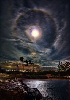 For a brief moment, a portal to a parellel universe opened over Maui's Kahului Harbor.
