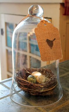 Making Your Very Own Bird Stamp & Burlap Tags - Adirondack Girl @ Heart