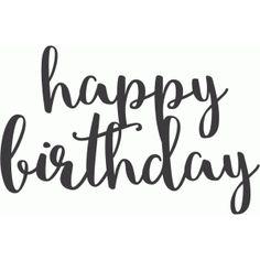 Silhouette Design Store: happy birthday