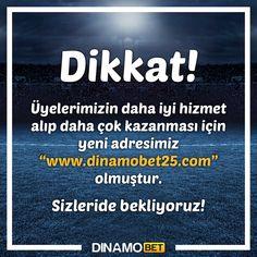 Kazandırmaya yeni adresimiz ile devam ediyoruz. www.dinamobet25.com