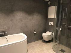 How to add micro cement yourself - viivilla.no, How to add micro cement yourself - viivilla. Bathroom Ideas Uk, Bathroom Inspiration, Walk In Bathtub, Corner Bathtub, Bathroom Furniture, Toilet, Easy Diy, Shower, Interior Design