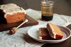 Honey Wheat Cake with Cream Cheese Icing.