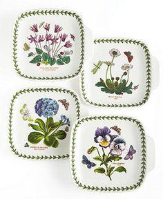 Portmeirion Dinnerware, Set of 4 Botanic Garden Canape Plates - Casual Dinnerware - Dining & Entertaining - Macy's