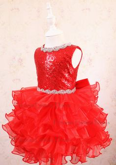Red Pageant Dress glitz Easter Dress Toddler Event Dress Baby Birthday Dress 49d4799a2a3c