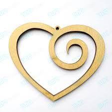 Resultado de imagen de подвеска сердце из дерева