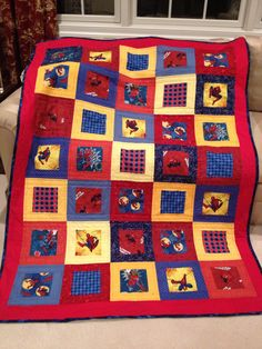 My grandsons most recent suggestion.  All little boys need a spiderman quilt.