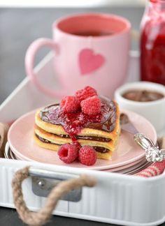 chocolate berry pancakes