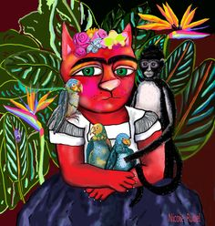 """Frida Kahlo is the inspiration for this painting called """"Frida Ralph,"""" by Nicole Rubel. www.nicolerubel.com"""