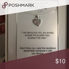 Sterling silver necklace Adorable angel pendant necklace Jewelry Necklaces