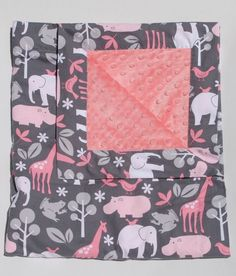 Minky Baby Blanket. SO CUTE! I want this for Audrey's nursery!