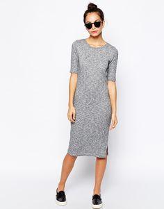 New Look Ribbed Midi Dress