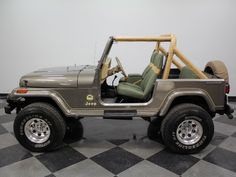 The Jeep YJ has gotten a reputation, because this 1989 Jeep Wrangler Sahara is not only good-looking, but highly competent in the rough stuff as well. Old Jeep Wrangler, Cj Jeep, Jeep Cj7, Jeep Wrangler Sahara, Jeep Truck, Chevy Trucks, Adventure Jeep, Jeep Sahara, Badass Jeep