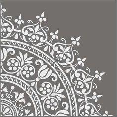 Stencil per la tua casa - Dettaglio rosone Stencil for your home - Rosette detail