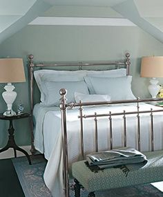 This classic, country bed from the Turkey Hill Collection reflects where Martha started with her first home collection.