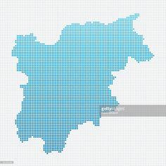 TrentinoAlto Adige physical map Maps Pinterest Italy