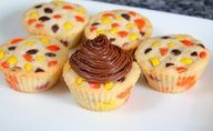 Reeces Pieces cupcakes.