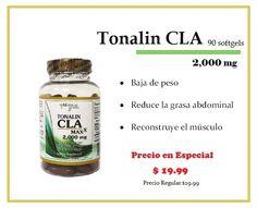 ¡Especial! Tonalin CLA 2,000mg  Consíguelo en tus tiendas Vita Natura. ¡Te esperamos! *Promoción válida hasta el 30-Abril-2013