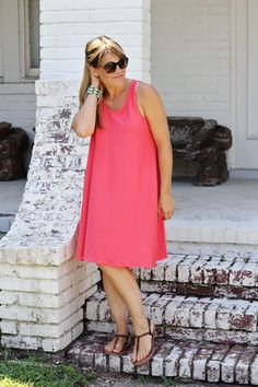 Trapeze Knit Tank Dress