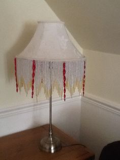 Lampshade with glassbeads