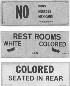 People were so racist in the 1960s the different races had to have two separate grocery stores.