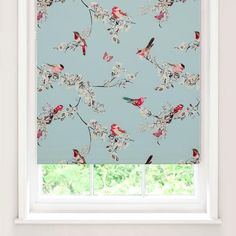 Duck Egg Beautiful Birds Blackout Roller Blind | Dunelm  163cm x 183cm $30 dining room