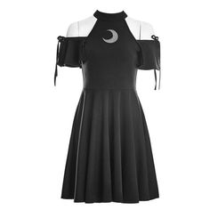 Gothic fashion 761038037009296877 - Gothic Wiccan Open Shoulder Moon Dress Source by ainhoalecaa Cosplay Outfits, Edgy Outfits, Teen Fashion Outfits, Mode Outfits, Cute Casual Outfits, Pretty Outfits, Pretty Dresses, Girl Outfits, Fashion Ideas