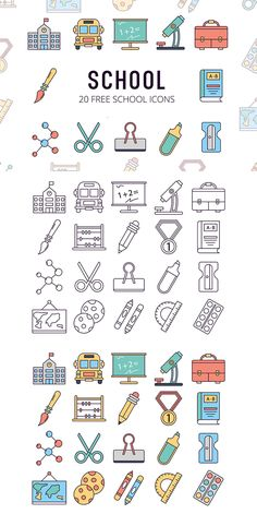 School Vector Free Icon Set – a thematic collection of high-quality images Doodle Icon, Doodle Art, App Icon Design, Web Design, Flat Design, School Vector, School Icon, Simple Doodles, Art Icon