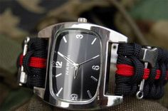 Black Firefighter / Fire Rescue Watch Shackle
