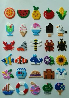 Different shapes perler beads - Diy and crafts interests Easy Perler Bead Patterns, Melty Bead Patterns, Perler Bead Templates, Beading Patterns, Loom Patterns, Embroidery Patterns, Knitting Patterns, Art Patterns, Bracelet Patterns