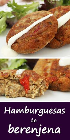 Eggplant burgers: a vegetarian recipe, easy and very rich. Vegetarian Comfort Food, Vegetarian Recipes Easy, Veggie Recipes, Easy Dinner Recipes, Easy Meals, Cooking Recipes, Healthy Recipes, Soup Recipes, Eggplant Burger
