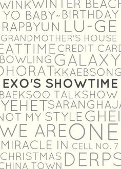 EXO Showtime Trends