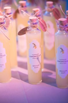 photo: Sara Wight Photography; wedding favor idea: handmade limoncello with love